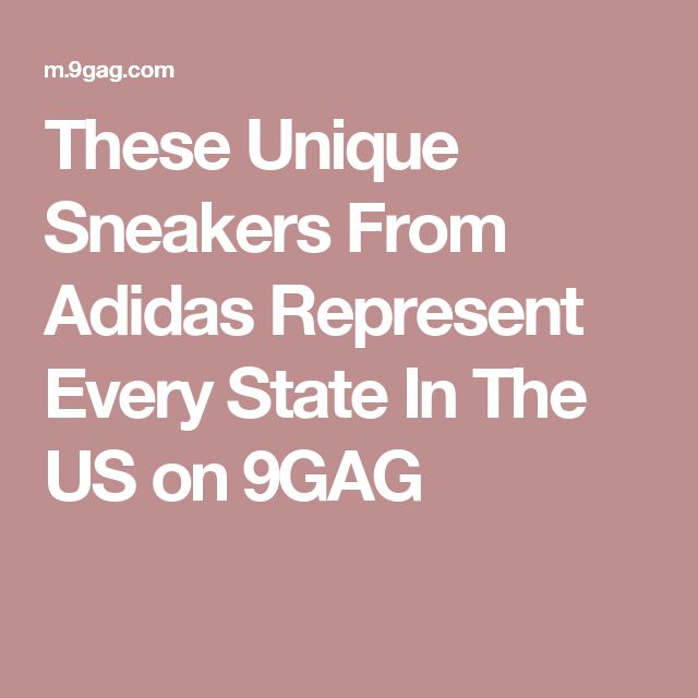 These Unique Sneakers From Adidas Represent Every State In The US on 9GAG