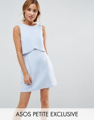 ASOS PETITE Scuba Crop Top With Embellished Trim Mini Dress