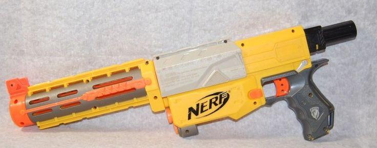 Nerf Recon CS-6 CS 6 Dart Gun w Extended Barrel Tested No clip #Nerf
