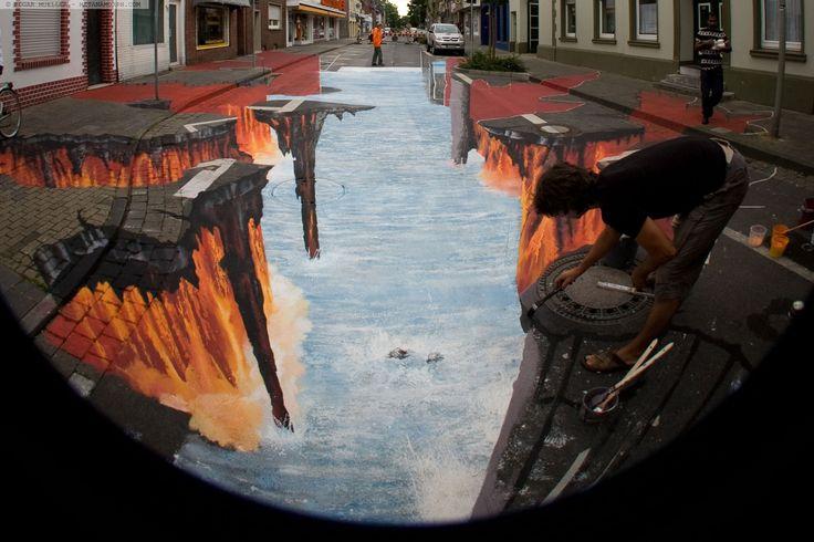 Edgar Mueller [Project] Lava Burst. Geldern, Germany. August 2008.