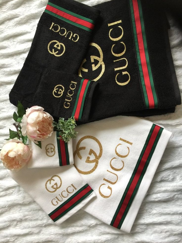 Gucci Towels Set Of 3 Towel Set Gucci Bedding Bathroom