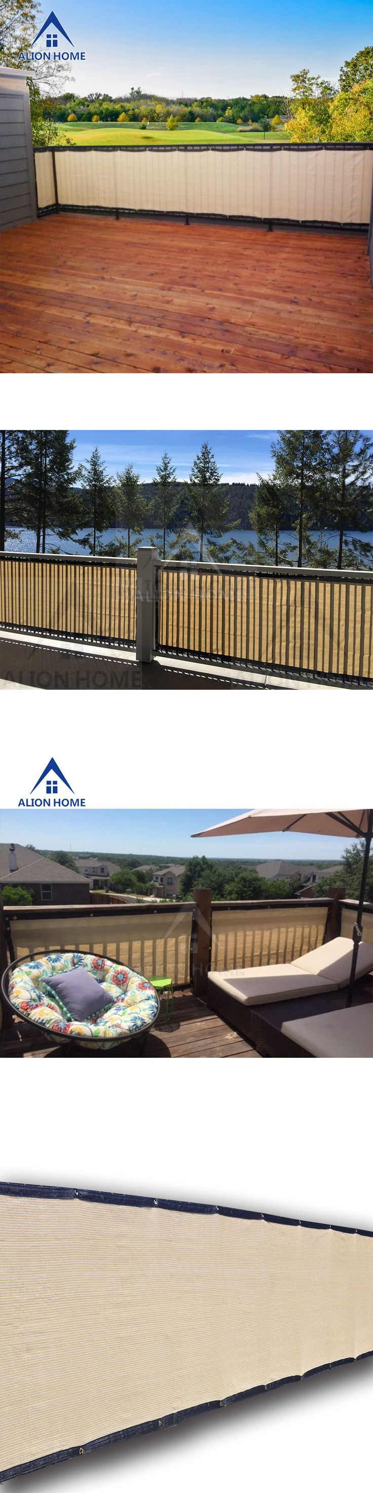 Privacy screen for chain link fence ebay - Privacy Screens Windscreens 180991 Alion Home Custom Sized Privacy Screen Patio Fence