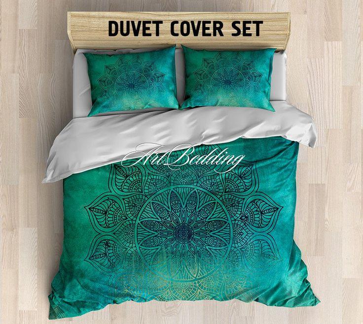 Bohemian bedding, Harmony mandala duvet cover set, Bohemian queen / king / full / twin duvet cover,Boho duvet cover, boho bedding, lotus mandala bedding set