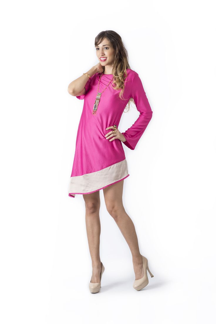Bosque Paraíso Collection REF:VE0017 SIZE: XS-1W Material: Satén- Polyester/100 Colors: Fuchsia,black,greenjade, red.