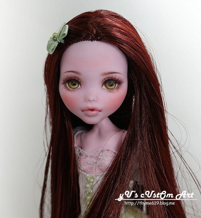 """** Sissi ** 11"""" 12"""" 1/6 OOAK custom Monster high Draculaura Repaint by Yu #Dolls"""