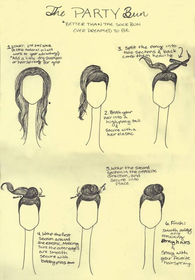 ~ Step by step tutorial for a party bun.
