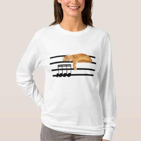 Musical tabby kitty cat T-Shirt - click/tap to personalize and buy