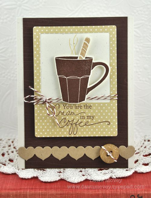 Dawn McVey #PTI: Christmas Cards, Dawn Mcvey, Cute Cards, Papertrey Ink, Coffee Cards, Friendship Cards, Cards Inspiration, Candy Canes Christmas, Cream Cards