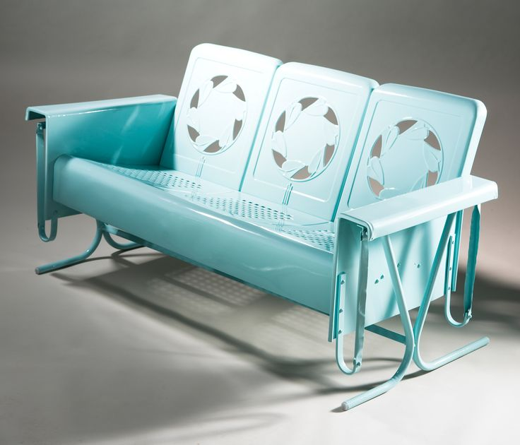 Vintage Metal Outdoor Furniture Part - 30: Restored Vintage Deco Glider-I Want This Badly!