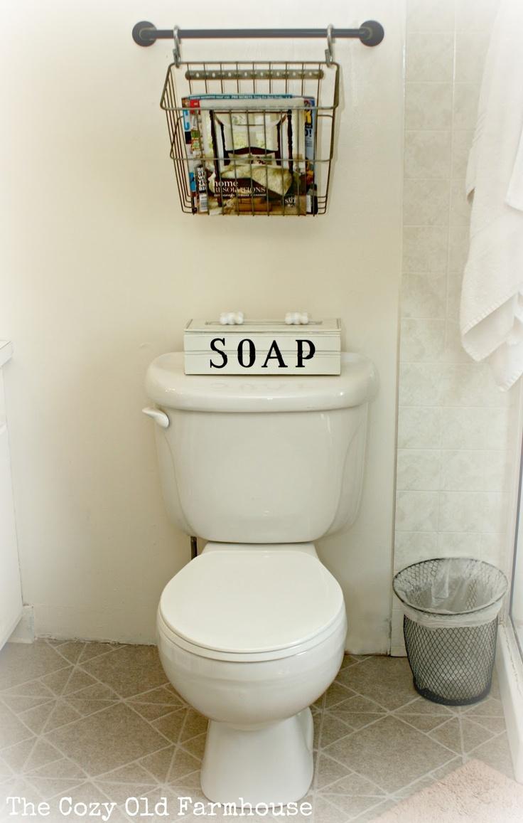 Best Farmhouse Magazine Racks Ideas On Pinterest Rustic - Wall baskets for towels for small bathroom ideas