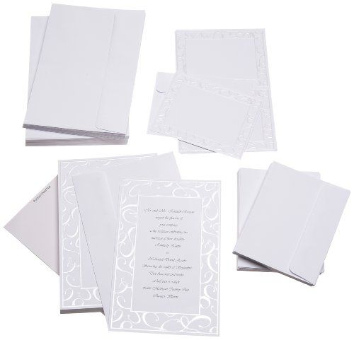 Wilton Elegant Swirls Wedding Invitation Kit   Click Image Twice For More  Info   See A
