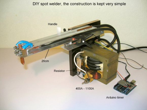 A Professional Spot Welder Made out of a Microwave Transformer