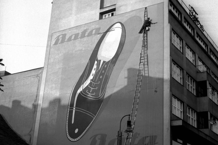 Bata oversized advertising, Czech Republic