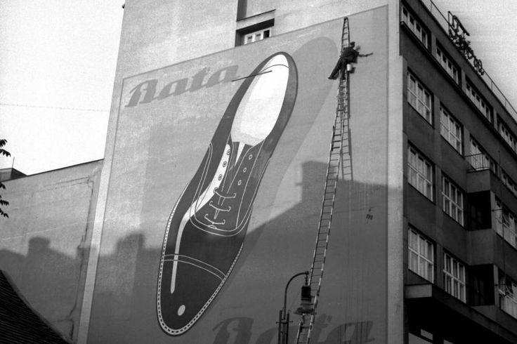 Bata oversized advertising, Czech Republic