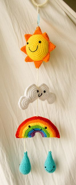 Inspiration - Gorgeous 'Weather' Hanging Mobile by Comfort Creatures (Susan Huddy) =)