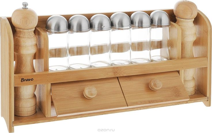 """Набор для специй """"Bravo"""", 9 предметов. 355 - купить по выгодной цене с доставкой. Кухня от Bravo в интернет-магазине OZON.ru"""