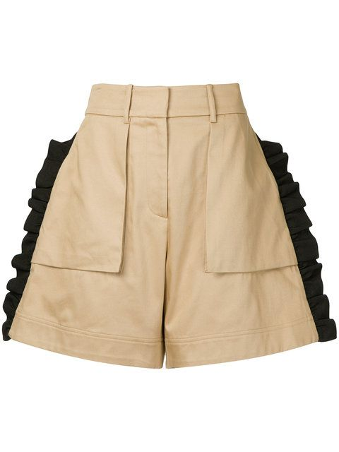 PUBLIC SCHOOL Mousa ruffle shorts. #publicschool #cloth #
