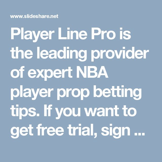 Player Line Pro is the leading provider of expert NBA player prop betting tips. If you want to get free trial, sign up today for a free 30 day trial of our premium All-Star membership. For more information, visit: playerlinepro.com
