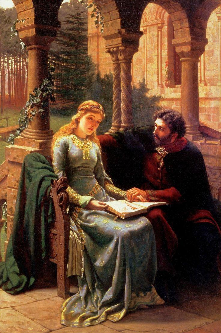 Abelard and his Pupil Heloise (1882). Edmund Leighton (English, 1853–1922). Oil on canvas.