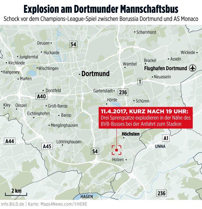 Explosionen am BVB-Mannschaftsbus - BILD berichtet live - Fussball - Bild.de