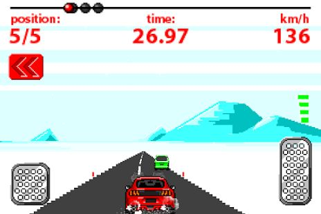 Gameska v style retro driving games:D Ovlada sa gyroskopicky