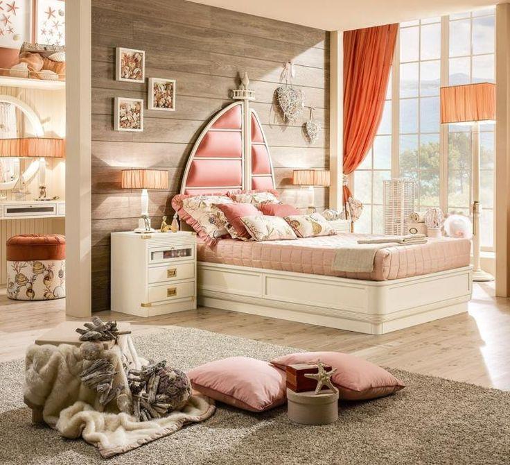 Für die Kinderzimmer Gestaltung mehrere Nuancen einer Farbe kombinieren