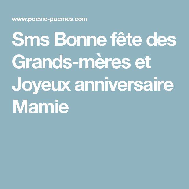 Sms Bonne fête des Grands-mères et Joyeux anniversaire Mamie