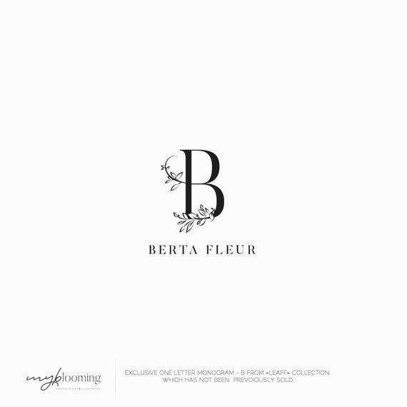 02ead2209e41c EXCLUSIVE Minimalist logo B LETTER One letter Monogram logo Floral logo  Photography Logo Initial logo Flowers Logo Luxury logo design | Products |  Floral ...