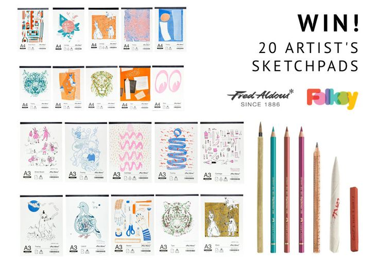 Win a bundle of 20 artist sketch pads