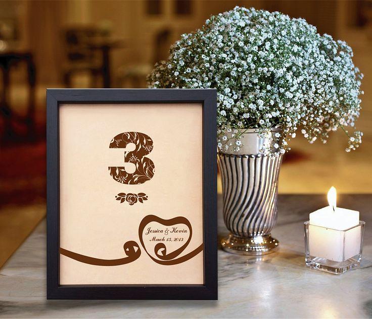 Lik155 Leather Engraved Wedding 3rd anniversary