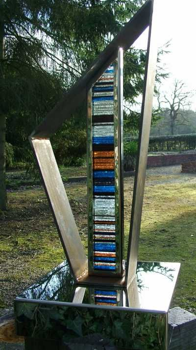 sculpture transient ii glass garden sculptures by sculptor jane bohane in
