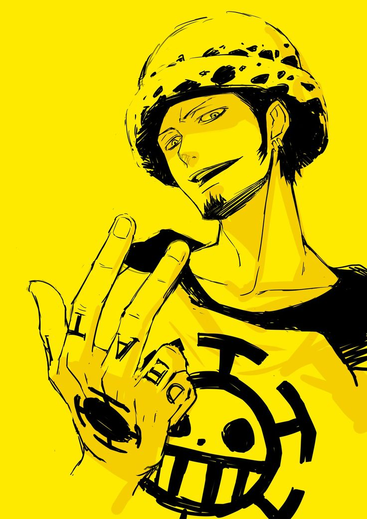 One Piece. Trafalgar Law. Ever noticed how his hand motion for shambles could look like a peace sign?