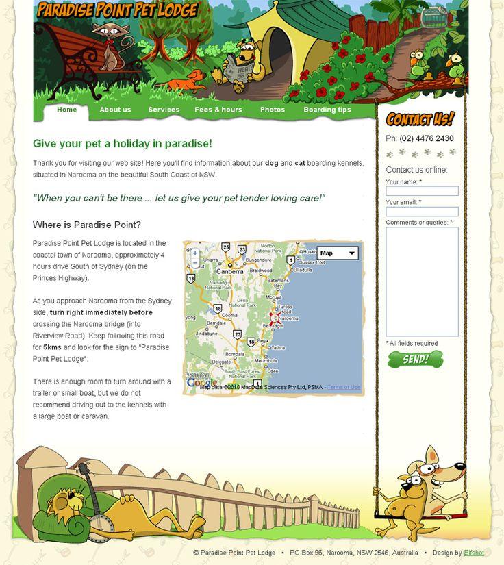 Paradise Point Pet Lodge | from Elfshot Web Design Folio