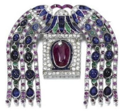 Egyptian art deco jewelry-Cartier - WOW !!!!: 1920 S, Cartier, Brooches, Deco Style, Cabochon Sapphires, Antique Jewelry, Deco Jewelry, Art Deco