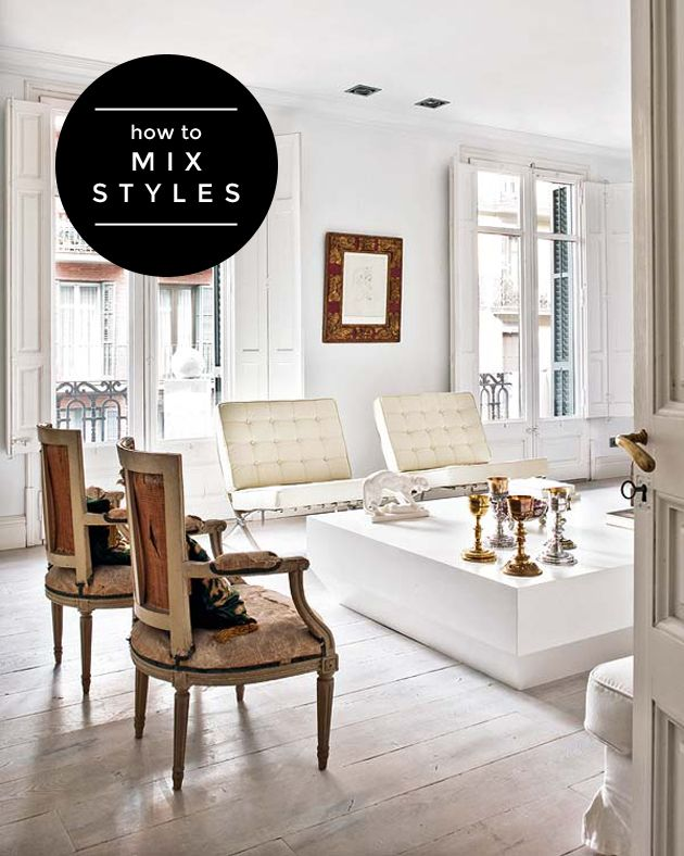 How To Mix Furniture Styles Effectively General Cleverness Or Ingenuity Pinterest Living Room And Home