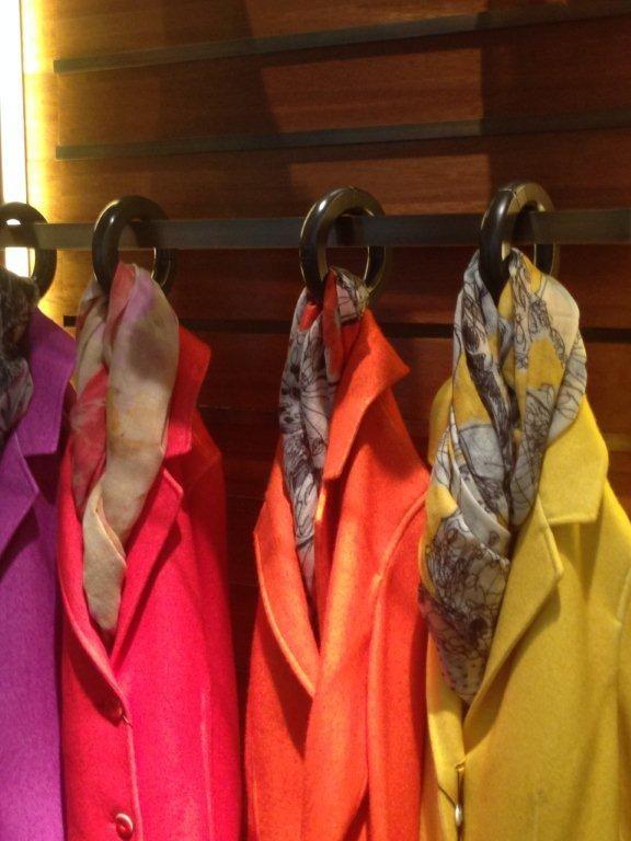 Toscanini accessories for Lanificio Colombo's boutique  Milano via Pietro Verri Milano Fashion Week 2014