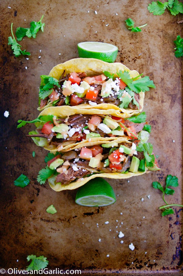 Caramelized Onions & Brisket Tacos