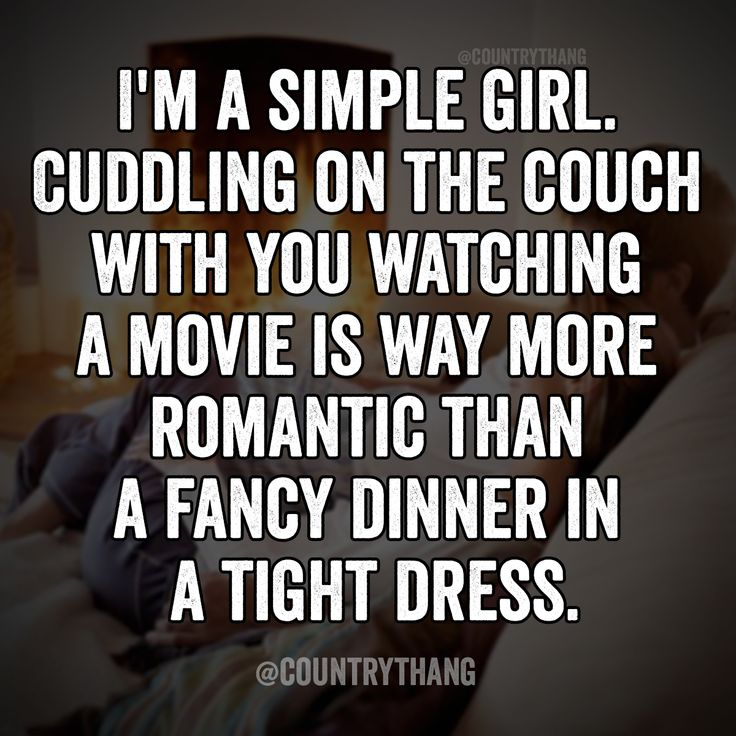 Cuddling watching a movie