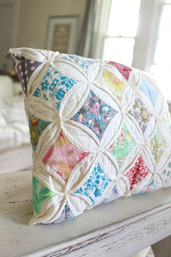 Farmhouse Quilt Pillow by NavarreCharm on Etsy, $20.00