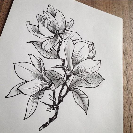 Рисунок карандашом для срисовки легкие и красивые цветы, открытку