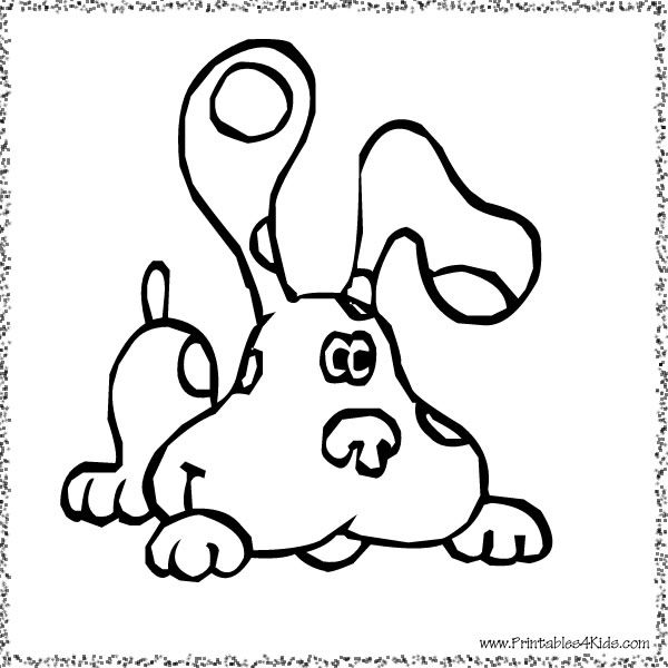 blues clues playful pup coloring page