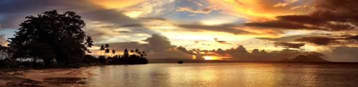 The beautiful Simpson Harbour at Rabaul