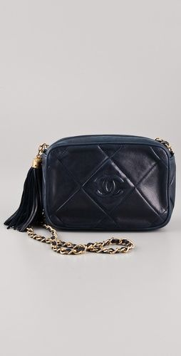 Vintage Chanel Quilted CC Shoulder Bag #tassels