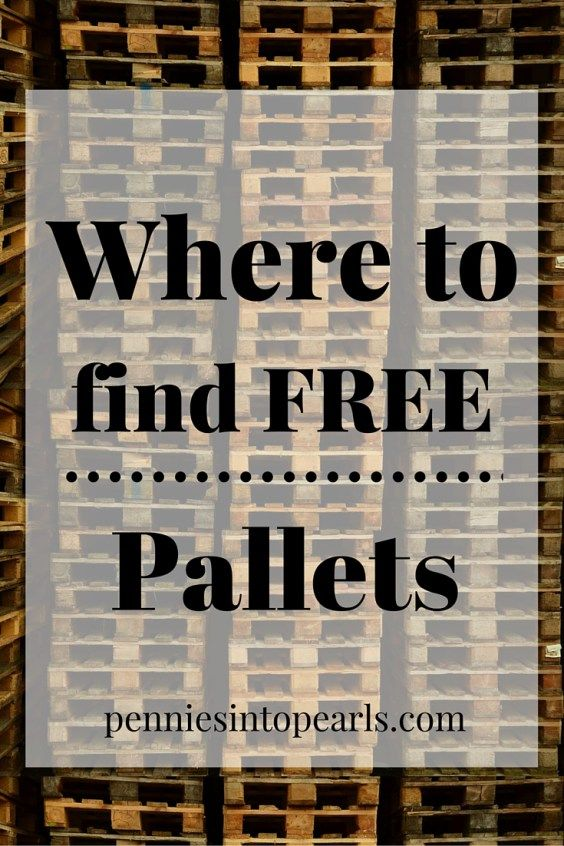 Useful tips on Where to Get Free Pallets. Plus, three rules on what to do when you find free pallets. Where to find free pallets.