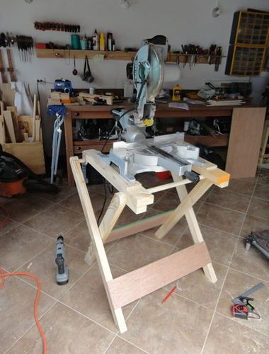 A Mobile Mitre Saw Stand - by PhilBello @ LumberJocks.com ~ woodworking community