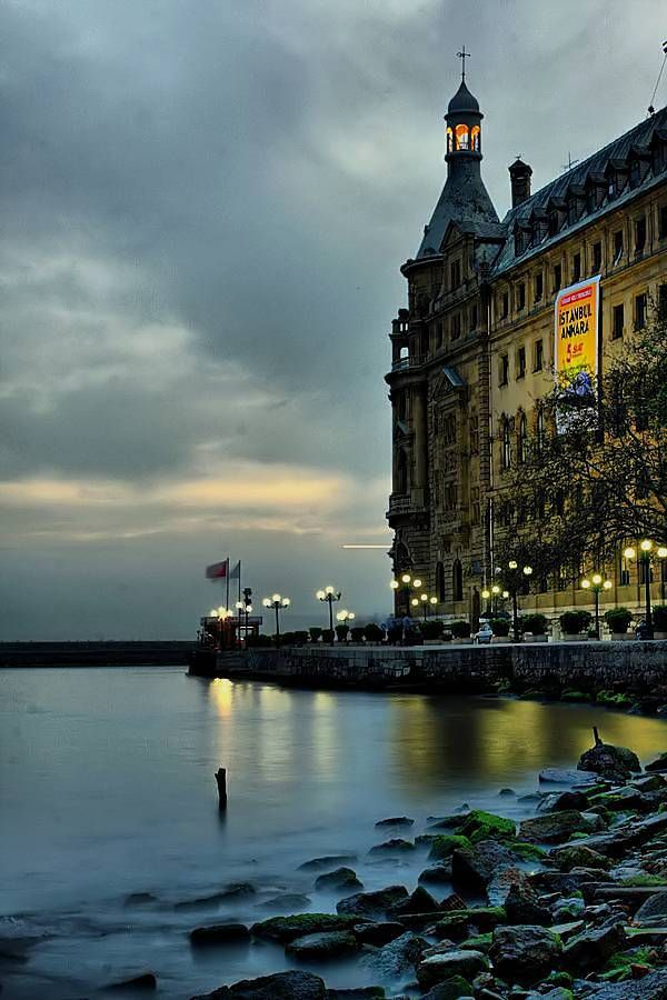 Evening(Haydarpasa train station,Istanbul,Turkey) |