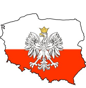 Polish Flag Decal / Polska Map Sticker