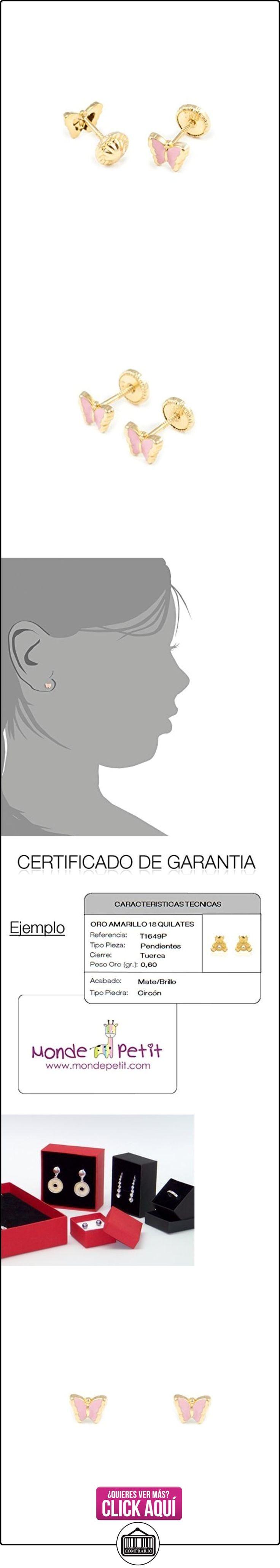 Pendientes Bebe o Niña Oro Mariposa Esmaltada Rosa  ✿ Joyas para niñas - Regalos ✿ ▬► Ver oferta: https://comprar.io/goto/B01CJX9B6Y