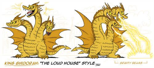 mm loud house style king ghidorah kaiju by mast3r rainb0w