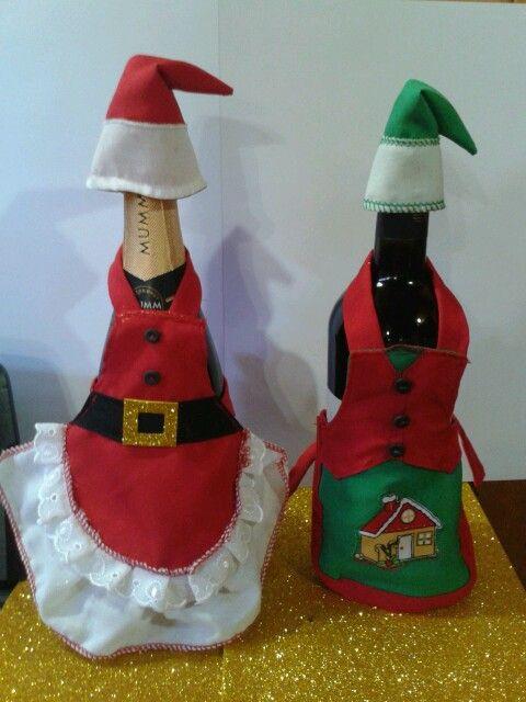 delantal navidad para botellas